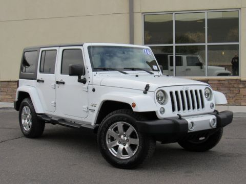 Pre-Owned 2016 Jeep Wrangler Unlimited Sahara Four Wheel Drive SUV
